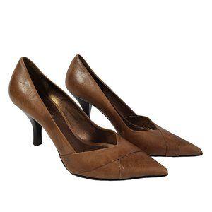 ALDO Light Brown Leather Heels 35